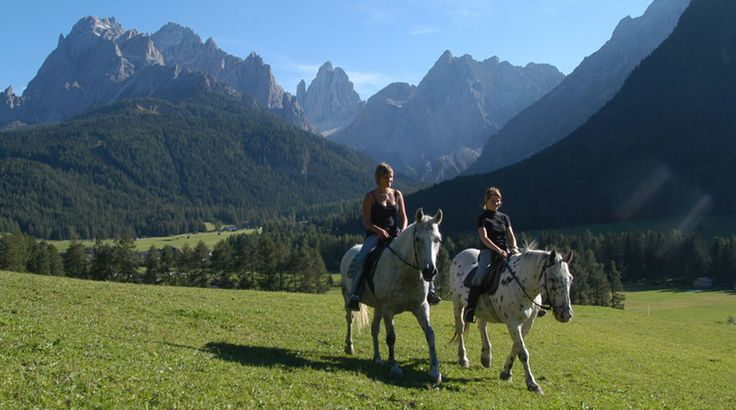 Horse Riding in Alta Pusteria, Sport Hotel Bad Moos in Sesto, South Tyrol