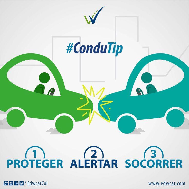 ¿Sabes qué hacer en caso de accidente? En un accidente vial debes seguir estos simples pasos: PAS.