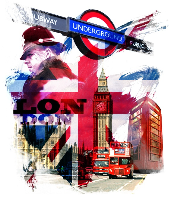 LONDON TOWN I by Gabriel Rosado, via Behance