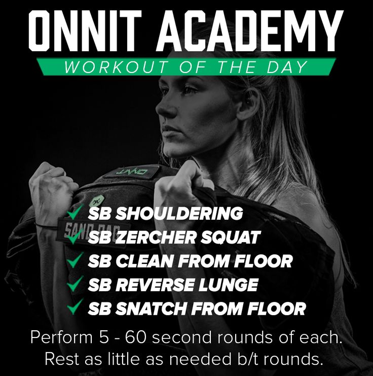 Onnit Academy Workout of the Day #47 - Sandbag Workout