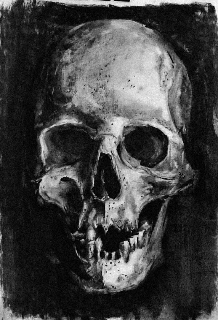 Charcoal skull no1