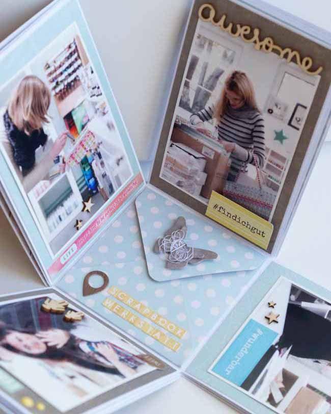 Inspirationsgalerie Minialbum Werkstatt / Scrapbook Werkstatt / Minialbum Box von Nicole Weber