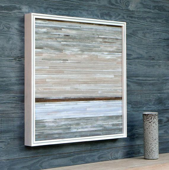 Distressed Wood Abstract---this is do-able. Paint in desert colors.