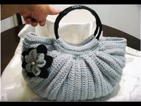Bolsa Gris Gordita Tejida en Crochet - Fat Bottom Crochet Shiny Gray PARTE 2 - YouTube