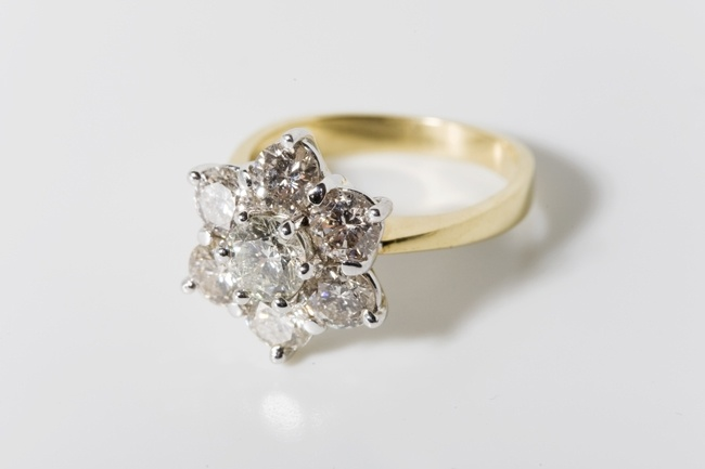Cluster engagement ring from Dublin jewellers Ireland