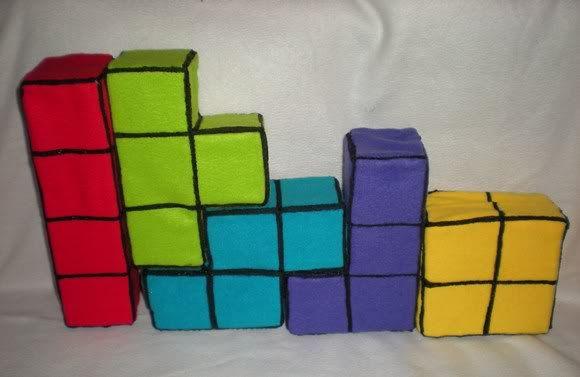 Peças de Tetris para decorar ambientes. | ROCK'N TECH