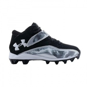 Under Armour Crusher III Football Cleats Kids Black Synthetic - ONLY $44.99