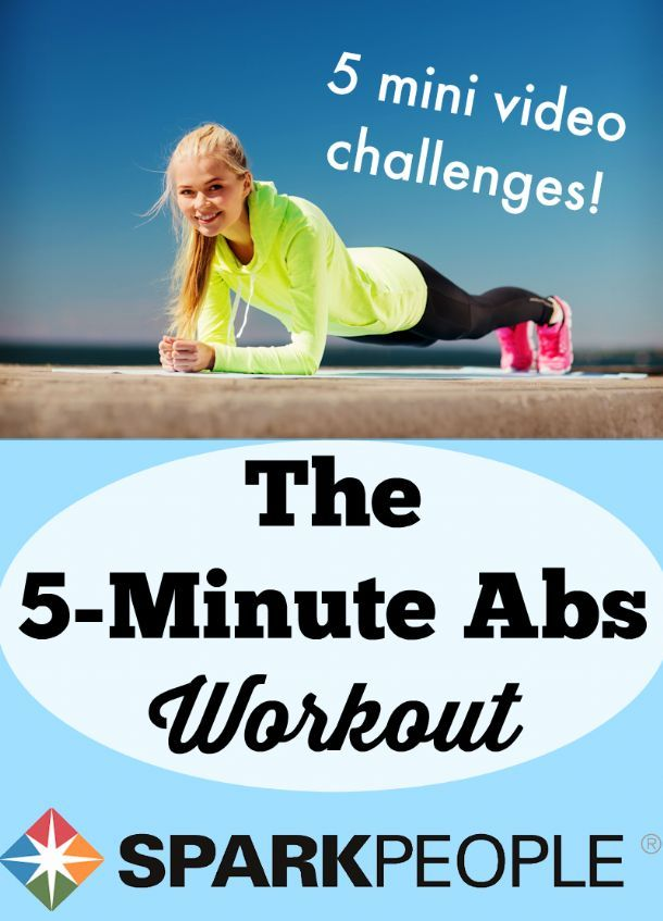 The 5-Minute Abs Workout. Just what I was looking for! I have no excuse for not fitting these 5 exercises.    via @SparkPeople #abs #challenge #exercise