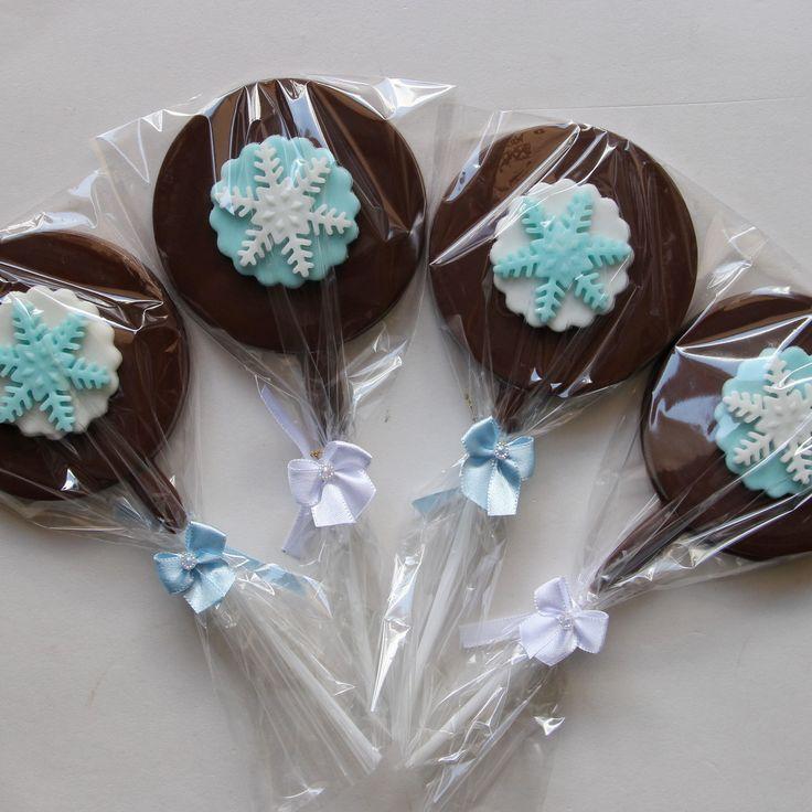 Pirulito de chocolate personalizado festa Frozen