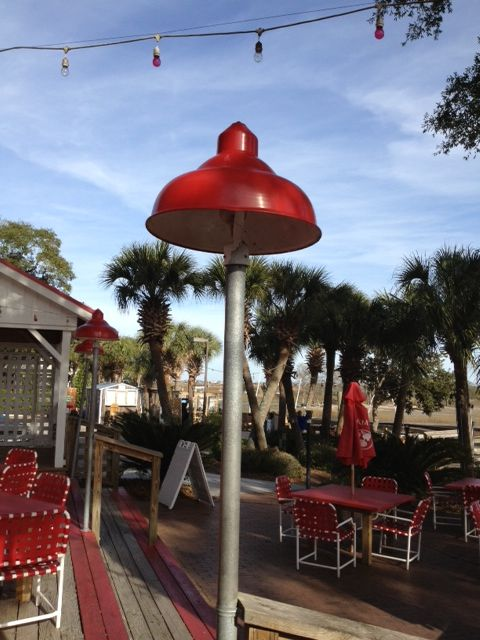 Love the old gas station lights repurposed for a patio in SC & 60 best Gas Station Lights images on Pinterest   Porcelain ... azcodes.com
