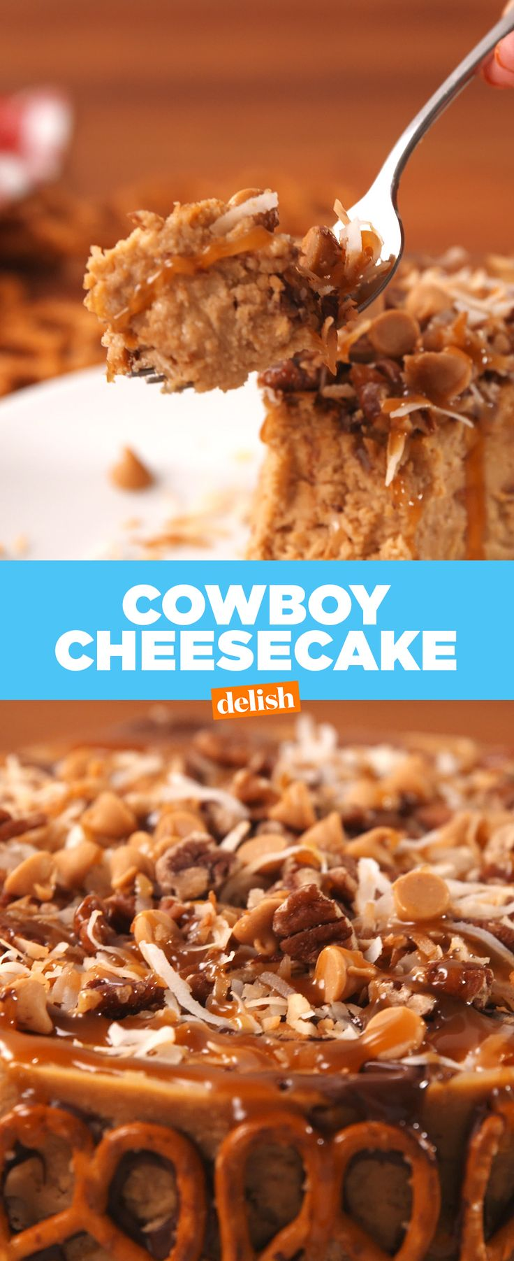 This Cowboy Cheesecake has every single flavor you've ever craved. Get the recipe from Delish.com.