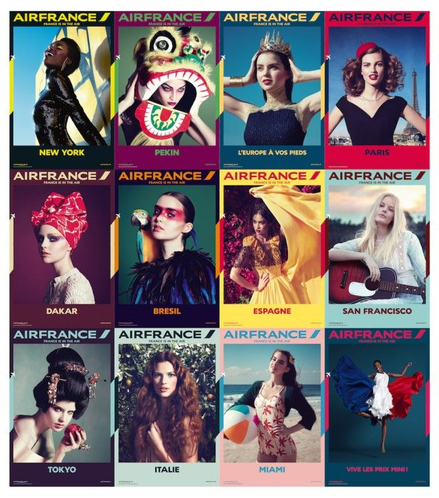 The new Air France Campaign is beautiful. Via Fubiz™