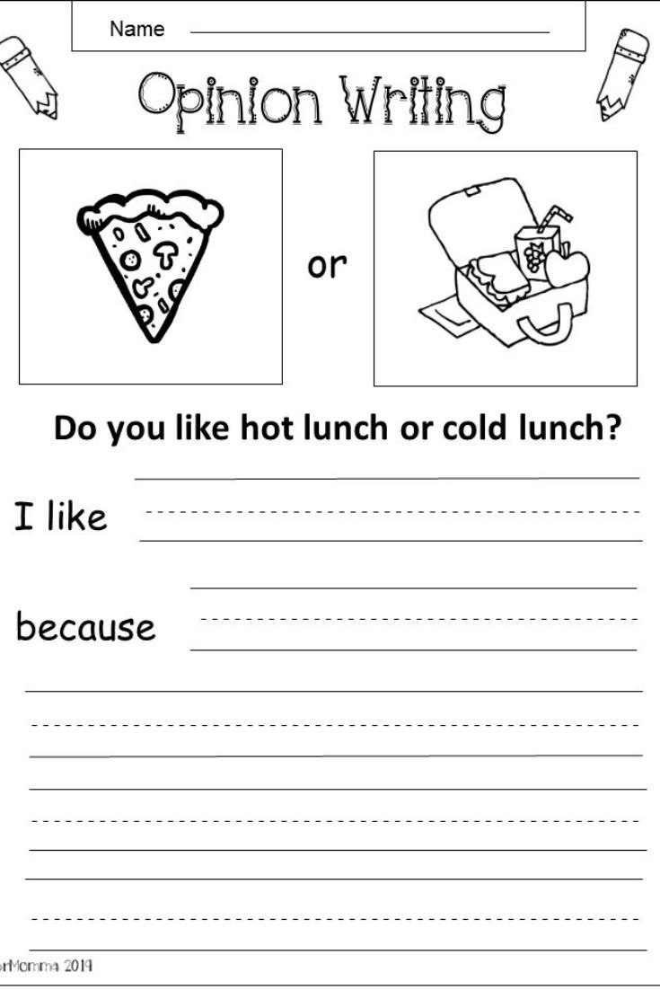 Free Opinion Writing Printable K 1 Kindermomma Com Kindergarten Writing Lessons Opinion Writing Kindergarten Writing Activities [ 1102 x 735 Pixel ]