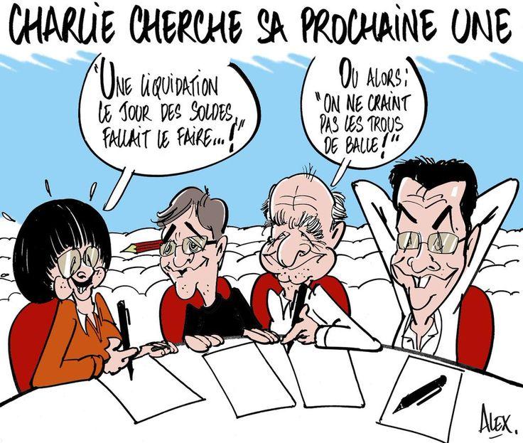 """""""Mon dessin dans le @Courrier_picard du 08.01.2015 : #CharlieHebdo Triste journée mais l'esprit demeure où ils sont..."""""""