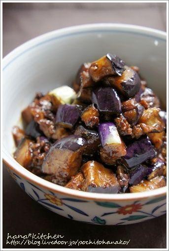 米なすレシピ ピリ辛そぼろ和えは、お弁当にも◎にじゅうまる。 by ...