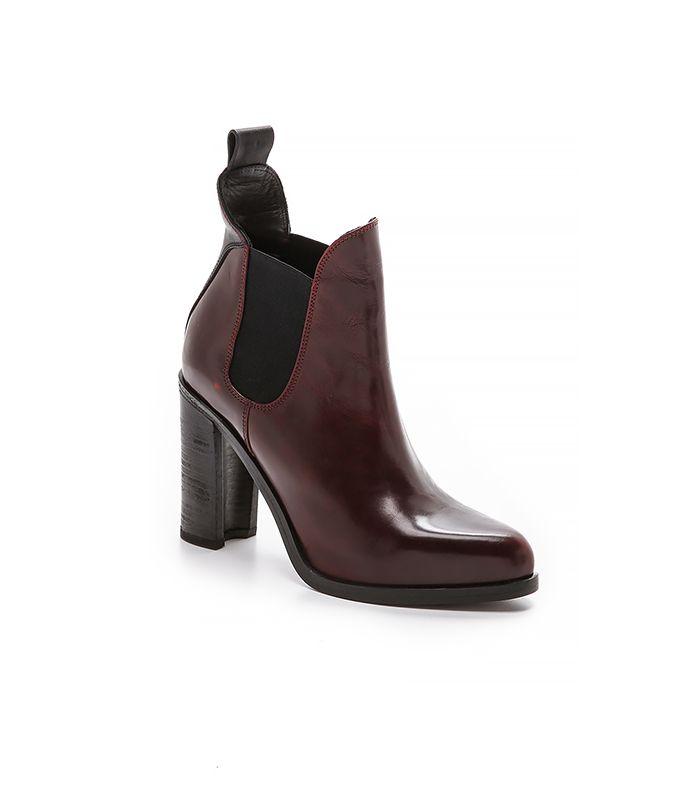 Swap the heels for Bordeaux Chelsea boots. //  Rag & Bone Stanton Chelsea Boots