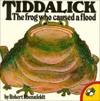 Tiddalick: the frog who caused a flood (Picture Puffin S.). Can be hard to get a copy, but a great story to share. Image found on Fishpond website