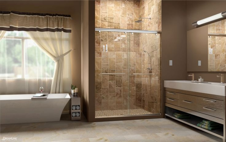 Whether you are doing a full remodel, updating your shower door or simply giving your bathroom a refresher- DreamLine Shower Doors have the largest variety of off-the-shelf sleek, modern frameless shower doors! For Sale at www.amazingshowerdoor.com