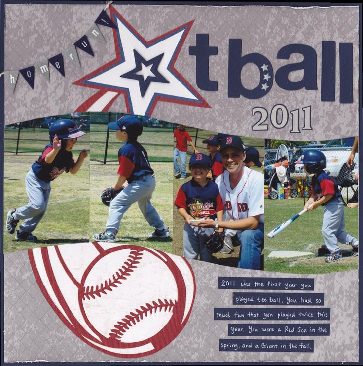 layout for jackie's softball album