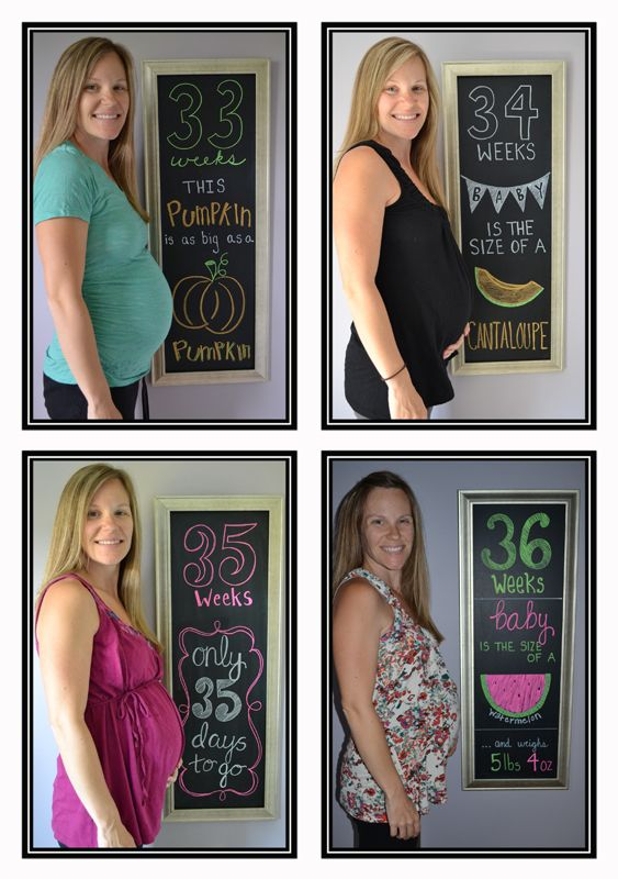 Weekly Maternity Chalkboard Photos
