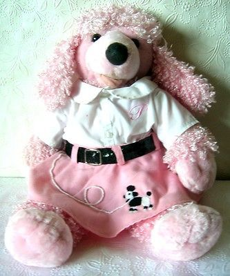 Pink Poodle Build A Bear Plush with 50's Outfit Poodle Skirt and Blouse
