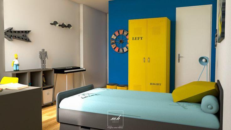 quand une chambre d 39 enfant se transforme en chambre d 39 adolescent dans une ambiance industrielle. Black Bedroom Furniture Sets. Home Design Ideas