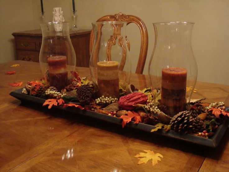 1000 ideas about kitchen table centerpieces on pinterest for Candle dining room centerpieces