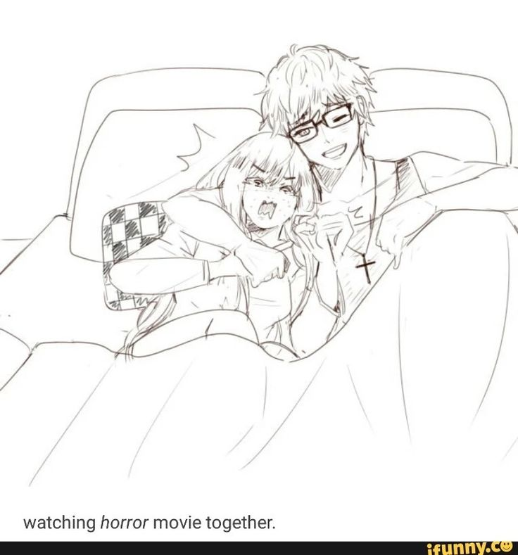 Mc and seven watching a horror movie