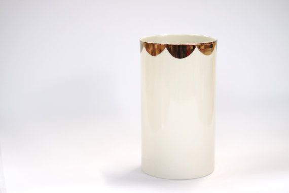 Hey, I found this really awesome Etsy listing at https://www.etsy.com/listing/197217517/porcelain-vase-milk-colour-with-copper