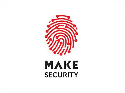 I like the thumbprint logo and the use of type and i think they work well together. The red and black also helps make it clear its for a security company