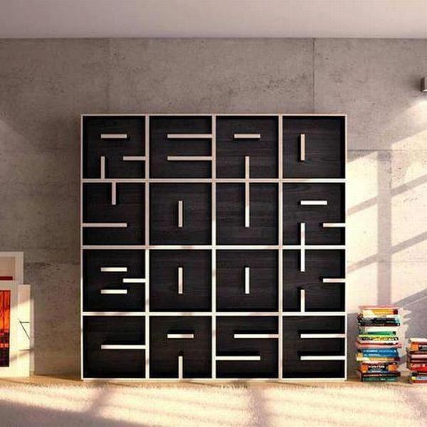 Brillant furniture design in typography style