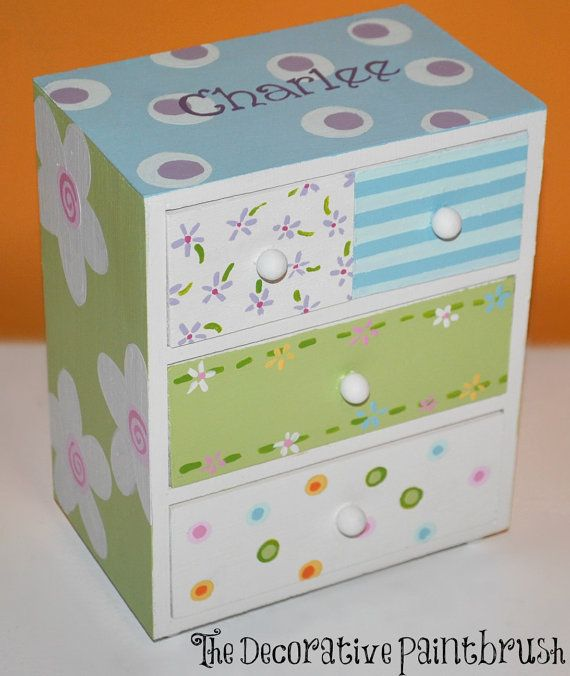 Painted Jewelry Box by TheDecorativeBrush on Etsy,