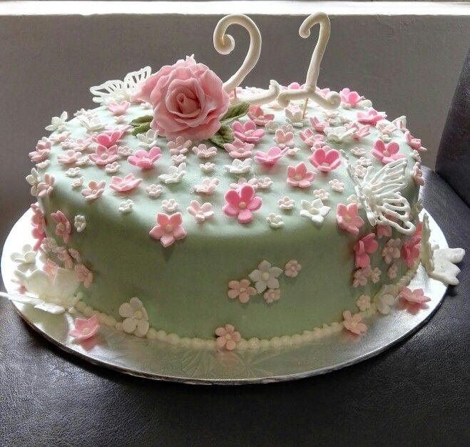 Vanilla Rose Birthday Cake