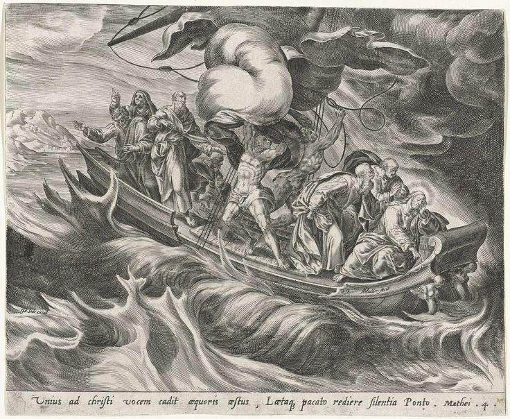 Storm op het Meer van Galilea, Harmen Jansz Muller, in of na 1574 - in of na 1572