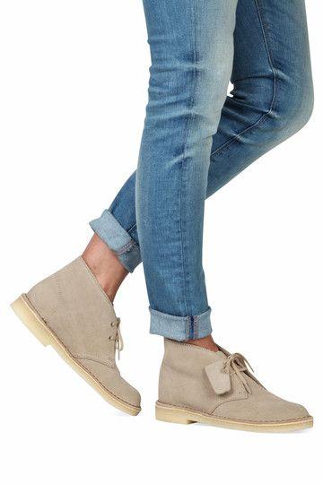Beige Clarks Originals boots Desert Boot enkelaarsjes