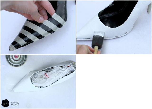 DIY striped shoes tutorial