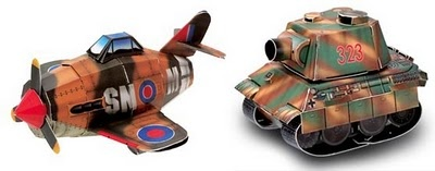 WWII Paper Models: Spitfire and Panther Tank