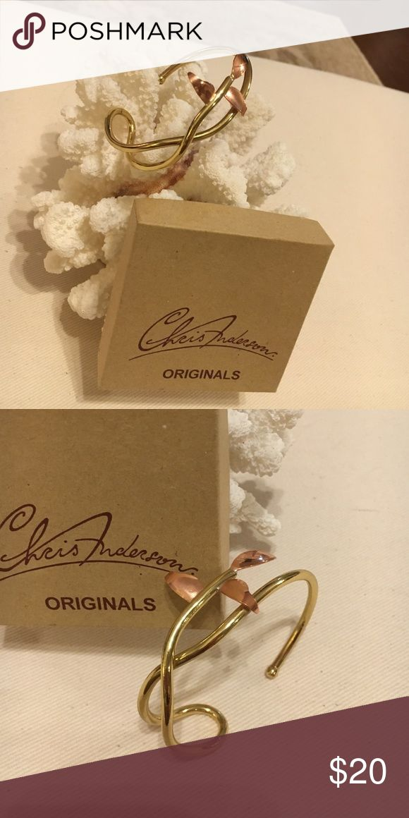 Chris Anderson Leaf Braclet Trinidad Designer and Photographer Chris Anderson Copper and Brass Leaf Braclet Jewelry Bracelets