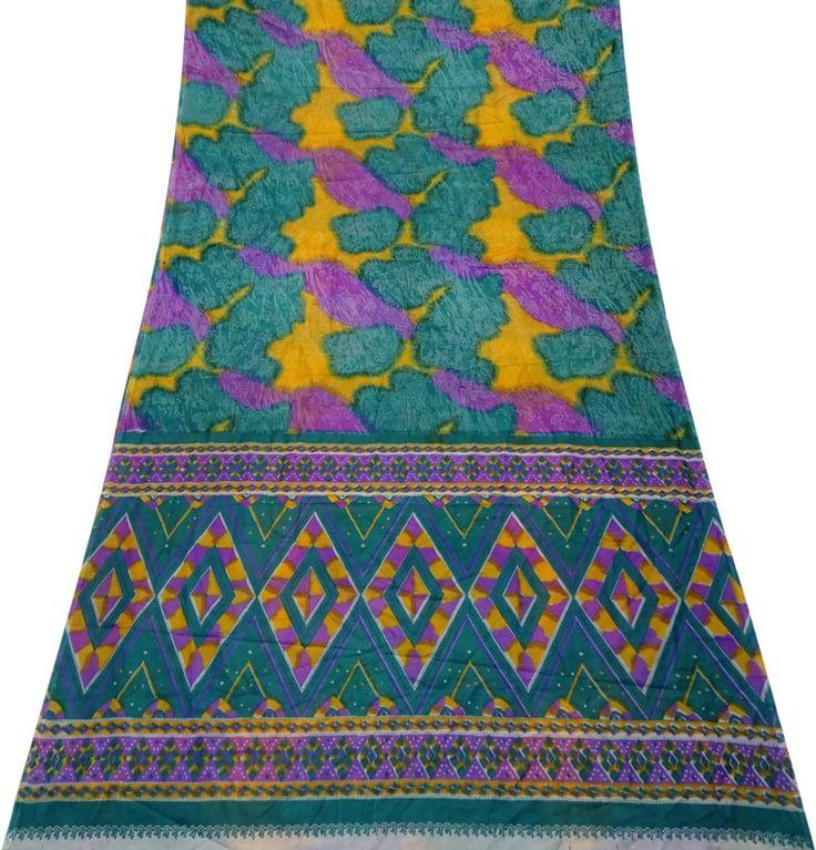 Vestido Tradicional Sari De La Vendimia Antigua Pareo Ropa De Sport Indio Utiliza El Arte De Decoración De Tela Las Mujeres Del Arte De DIY Sari De Moda Étnicos: Amazon.es: Hogar