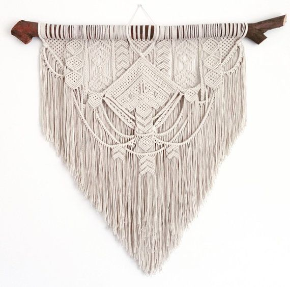Mejores 468 im genes de macram cortinas toallas tapices - Tapices de macrame ...