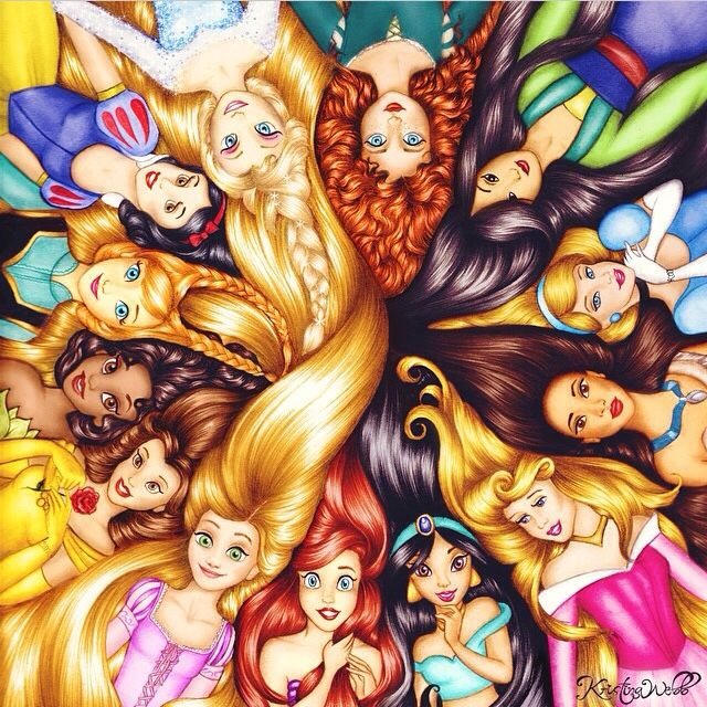 Disney princess hair ✌️