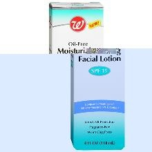 Walgreens Oil-Free Moisturizing Facial Lotion, SPF 15 is a great and inexpensive alternative to the Neutrogena brand, and it doesn't leave you shiny at all