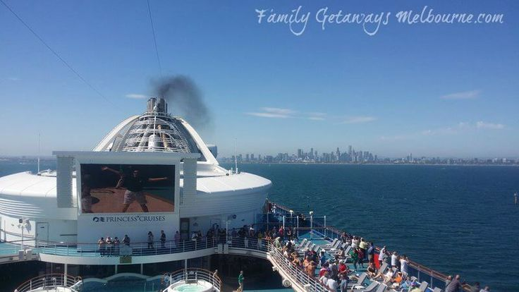 Cruising from Station Pier Port Melbourne on the Golden Princess cruise ship heading for New Zealand