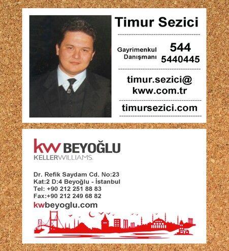 kw timur sezici, kwbeyoglu, keller williams, keller williams business card