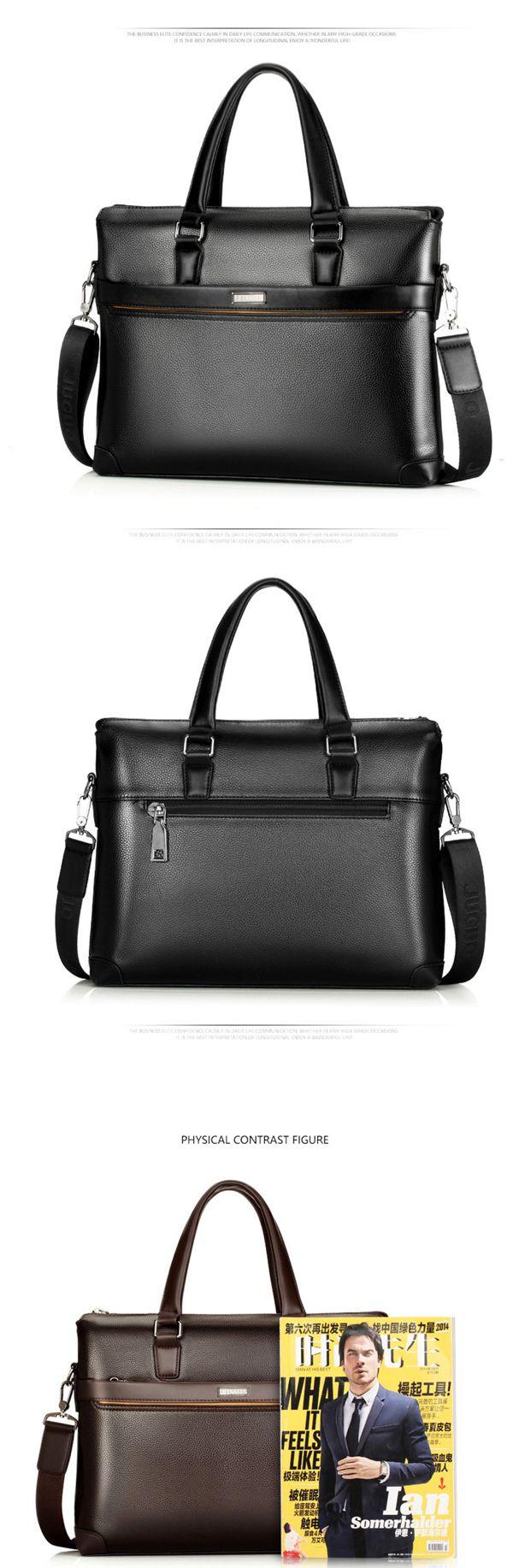 Men PU Leather Business Briefcase Laptop Bag Messenger Bag Handbag Work Bag