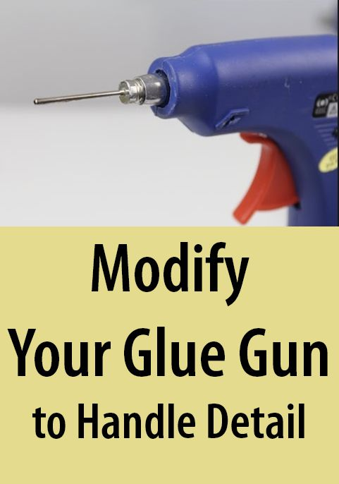 Attach a ball pump needle to the tip of your glue gun to extrude a finer stream of glue.