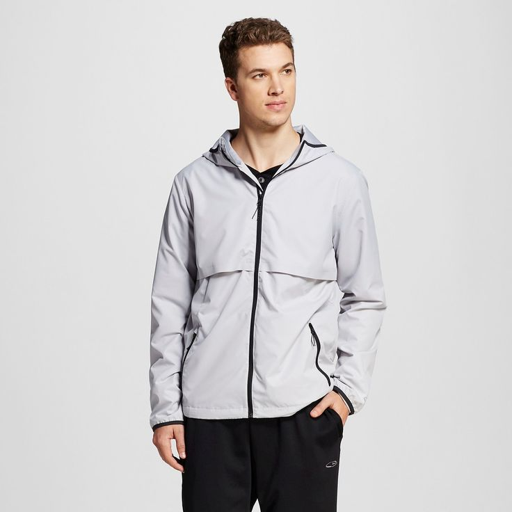 Men's Packable Water Resistant Jacket Gray XL - C9 Champion, Gray Afternoon