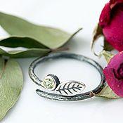 Украшения ручной работы. Ярмарка Мастеров - ручная работа Кольцо серебро, тонкое кольцо, серебряное кольцо, кольцо с камнtv. Handmade.
