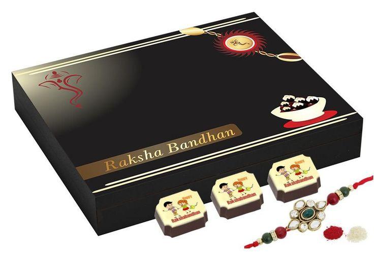 Best rakhi gifts - 9 Chocolate Gift Box - Rakhi gift for sister