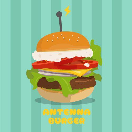 【イラスト】バーガー【illust】antenna burger